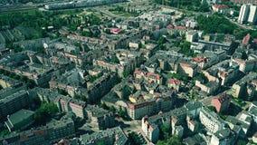 波兹南,波兰住宅区鸟瞰图  图库摄影