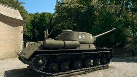 波兹南,波兰- 2018年5月20日 著名T-34苏联时代坦克 免版税库存照片