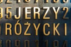 波兹南,波兰- 2016年9月06日:波兰密码专家(谜Codebrakers)的纪念碑 免版税库存照片