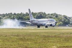 波兹南,波兰- 6月14 :在Aerofestival期间,空气探索飞机 库存图片