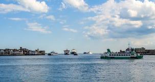 波兹毛斯海湾入口  库存图片