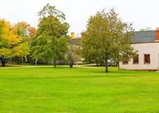 波兹毛斯, NH,美国- 2012年9月30日:Strawbery Banke是一个室外历史博物馆 库存照片