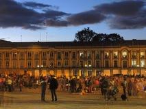波利瓦广场的看法在波哥大,哥伦比亚 免版税图库摄影