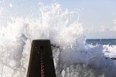 波力发电潮汐水池 免版税图库摄影