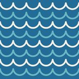 波动图式摘要无缝的海背景 条纹设计传染媒介例证 向量例证