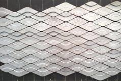 波动图式砖墙 免版税库存照片