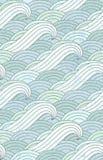 波动图式 海洋 水样式 向量例证