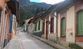 波哥大哥伦比亚场面街道 免版税库存照片
