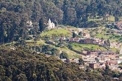 波哥大哥伦比亚小山 免版税库存照片
