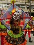 波哥大哥伦比亚2016年3月Inagural游行伊比利元首的剧院节日  免版税库存照片
