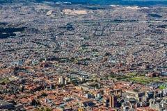 波哥大地平线都市风景哥伦比亚 免版税库存照片