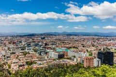 波哥大地平线都市风景哥伦比亚 图库摄影