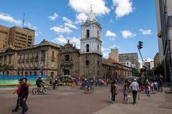 波哥大城市街道  免版税图库摄影