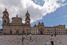 波哥大大教堂哥伦比亚primada 免版税库存照片