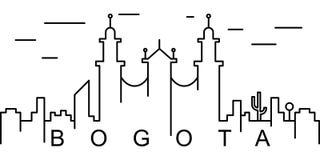 波哥大概述象 能为网,商标,流动应用程序,UI,UX使用 库存例证
