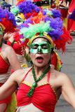 波哥大游行的哥伦比亚的舞蹈家 库存图片