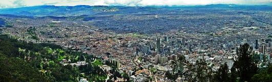 波哥大,哥伦比亚全景  免版税库存图片