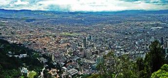 波哥大,哥伦比亚全景  库存照片