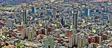 波哥大,哥伦比亚的中心的全景 免版税图库摄影