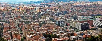 波哥大,哥伦比亚的中心的全景 图库摄影