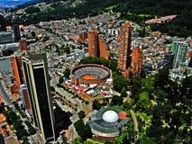 波哥大,哥伦比亚的中心的看法 图库摄影