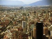 波哥大,哥伦比亚街市的看法  免版税图库摄影