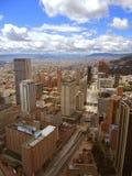 波哥大,哥伦比亚街市的看法  免版税库存图片