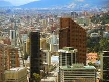 波哥大,哥伦比亚街市的看法  库存图片
