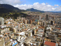 波哥大,哥伦比亚街市的看法  图库摄影