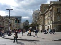 波哥大,哥伦比亚街道。 免版税库存照片