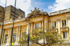 波哥大,哥伦比亚- 2017年10月, 11日:历史建筑旧金山宫殿,房子美丽的景色  免版税图库摄影