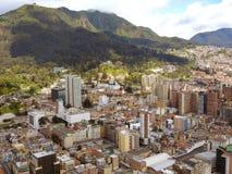 波哥大,哥伦比亚延长的看法  库存照片