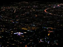 波哥大,圣诞节时间的哥伦比亚的中心的看法 库存照片
