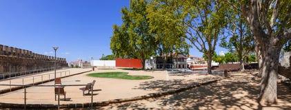 波塔斯角在圣塔伦,葡萄牙做Sol庭院和眺望楼 免版税库存图片