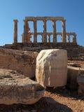 波塞冬寺庙在Sounion,希腊的 图库摄影