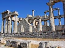 波塞冬寺庙-海角Sounion,希腊 免版税库存图片