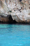 波塞冬的面孔,扎金索斯州海岛,希腊 库存图片