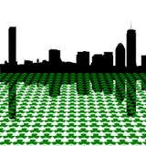 波士顿三叶草地平线 库存照片