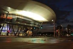 波士顿会议中心在晚上 库存照片
