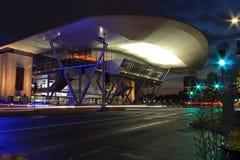 波士顿会议中心在晚上 免版税库存图片