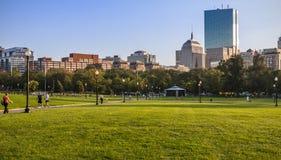 波士顿公园在马萨诸塞,美国 库存照片