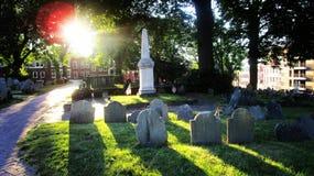 波士顿公墓 免版税图库摄影