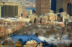 波士顿共同在冬天,马萨诸塞,美国 库存照片