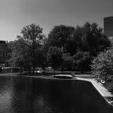 波士顿共同性的湖 免版税库存照片