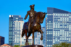 波士顿共同的乔治・华盛顿纪念碑 免版税图库摄影
