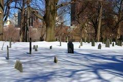 波士顿冬天 库存图片