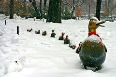 波士顿冬天 免版税库存图片