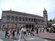 波士顿图书馆公共 免版税库存照片