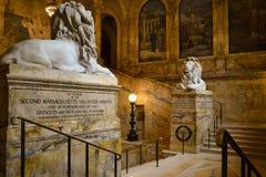波士顿图书馆公共 免版税库存图片