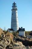 波士顿在s u附近的海岸警卫队灯塔 库存图片